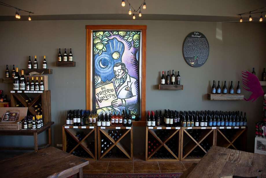 A variety of wines are available in the Bonny Doon Vineyard tasting room in Davenport, Calif. on Saturday, June 23, 2018. Photo: Patrick Tehan / Special To The Chronicle
