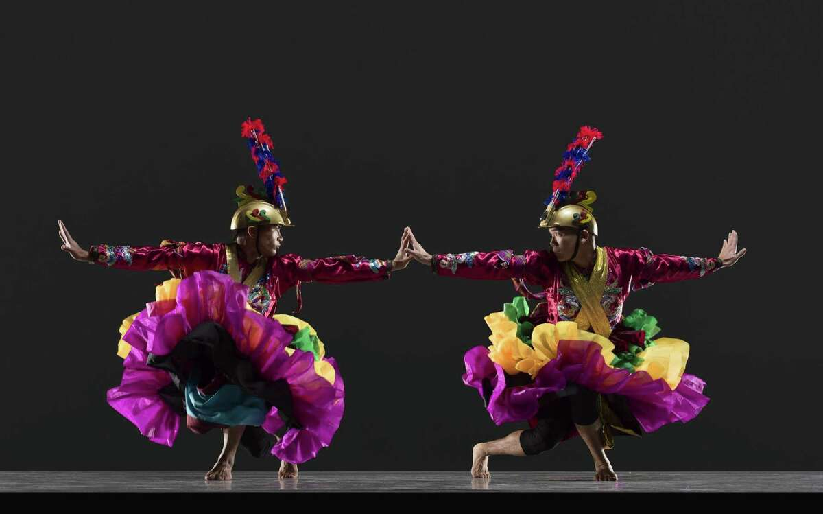Nathan Perucho (left) and Eric Dong of Parangal Dance Company perform on the opening weekend.