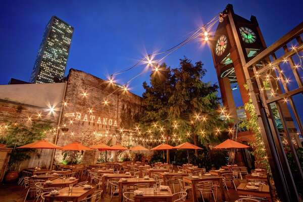Patio at Batanga restaurant in downtown Houston.