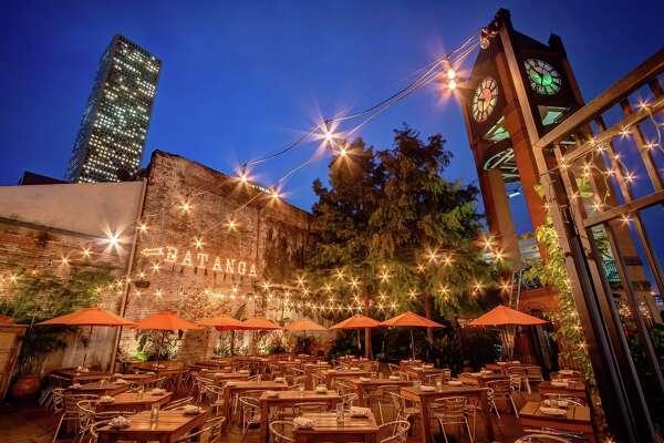 Patio at Batanga restaurant in downtown Houston.