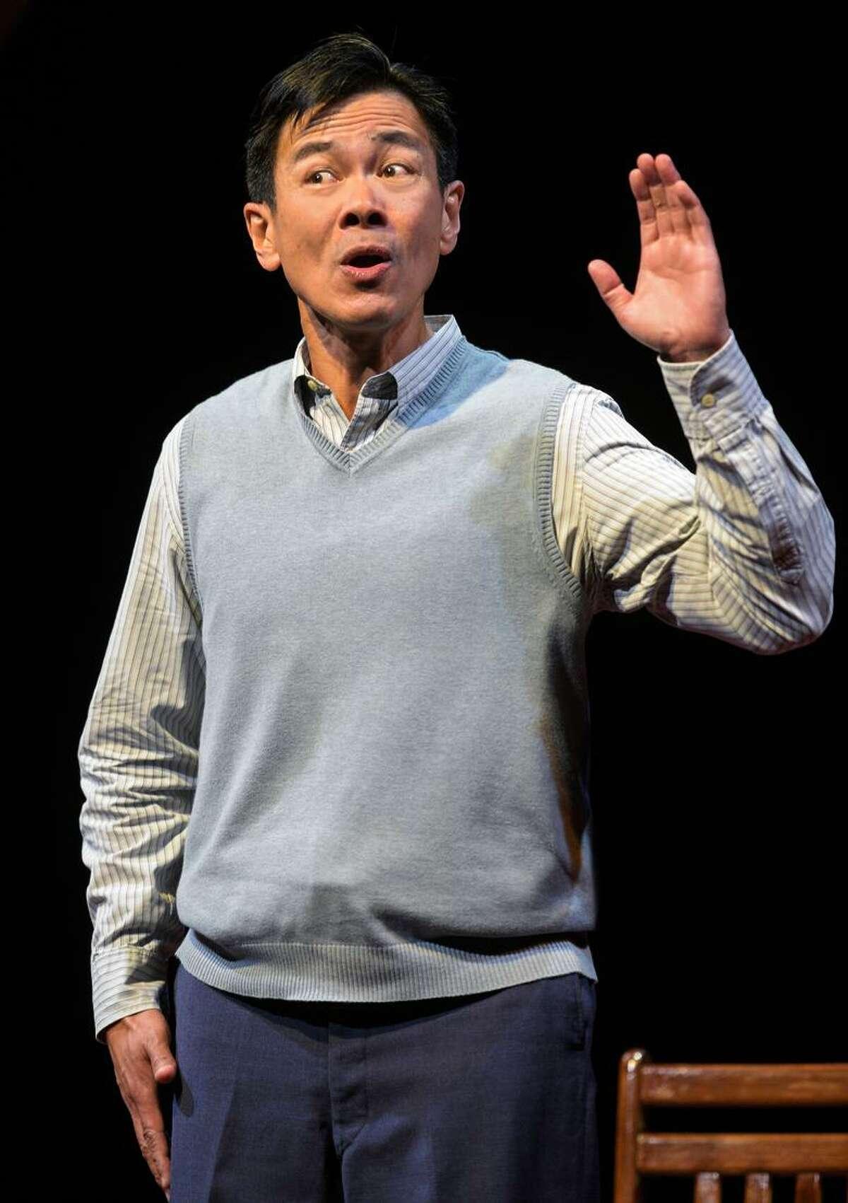 "Joel de la Fuente in TheatreWorks' ""Hold These Truths."""
