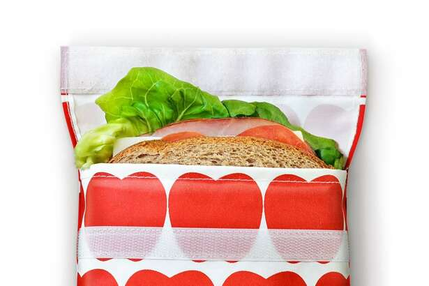 One way to cut down on plastic is to use reusable sandwich bags.