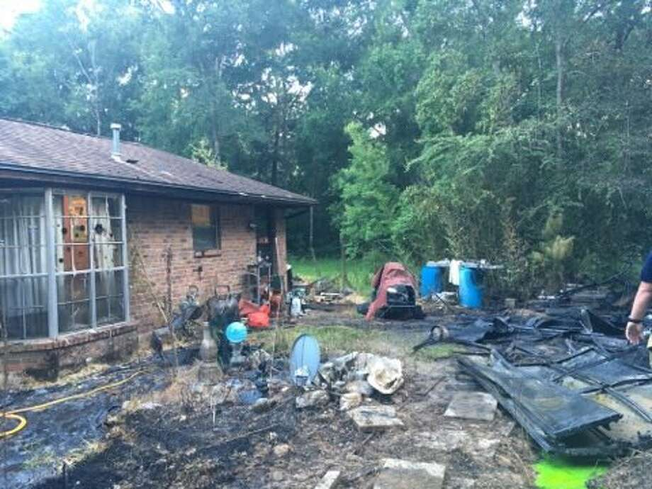 The Montgomery County Fire Marshal's Office continues to investigate a July 14 structure fire in Roman Forest which caused a propane tank and generator to explode. Photo: Roman Forest Police Department