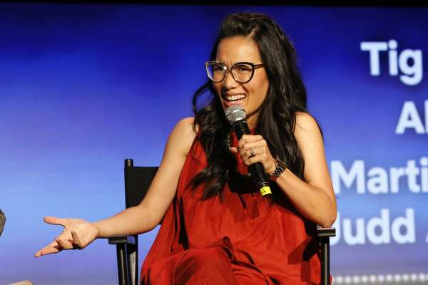 """LOS ANGELES, CA - MAY 11:  Ali Wong speaks onstage at the """"Netflix is a Joke"""" Panel at Netflix FYSEE at Raleigh Studios on May 11, 2018 in Los Angeles, California."""