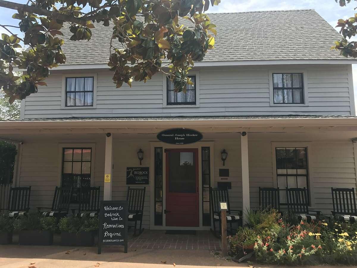 Bedrock Wine Co.'s tasting room, inside the historic General Joseph Hooker House in downtown Sonoma