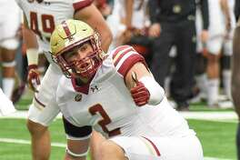 New Canaan's Zach Allen, a senior defensive end at Boston College, was named to the Bednarik Award watch list on Monday.