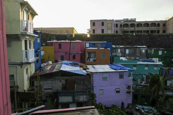 A low-income area of San Juan, Puerto Rico, three weeks after Hurricane Maria hit, Oct. 11, 2017. Island residents who have fallen behind on their payments are facing creditors ranging from Wall Street to the federal government.