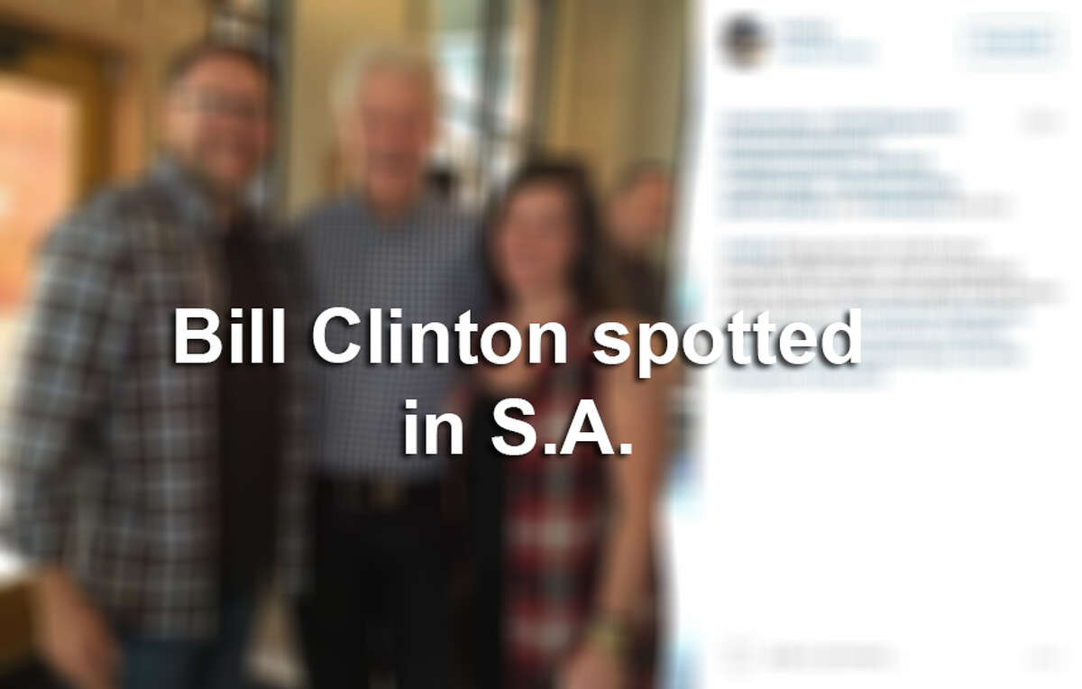 Bill Clinton spotted in San Antonio.