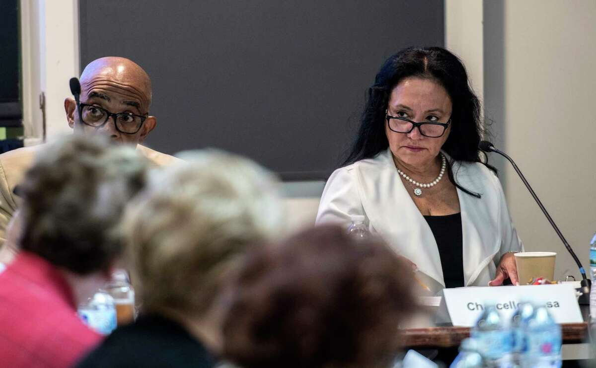 Chancellor of the Board Regents, Dr, Betty A. Rosa, right, was in attendance at the Board of Regents meeting at the Education Building Monday, July 16, 2018 in Albany, N.Y. (Skip Dickstein/Times Union)