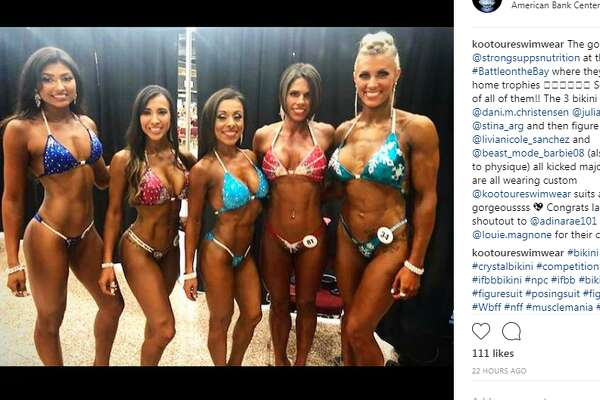 Texans flexed, showed off their glistening muscles and competed on July 14, 2018, in the Battle on the Bay Fit Expo in Corpus Christi.