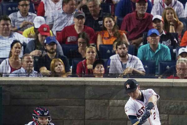 Houston Astros Alex Bregman (2) hits during the MLB Home Run Derby, at Nationals Park, Monday, July 16, 2018 in Washington. The 89th MLB baseball All-Star Game will be played Tuesday. (AP Photo/Carolyn Kaster)