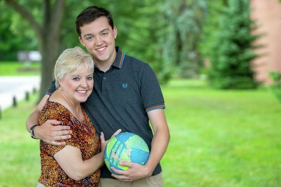 Austin Raymond and his mom, Tina, pose for a photo. Austin had a minor surgical treatment called an ablation after being diagnosed with Wolff-Parkinson's-White syndrome, (Photo provided)