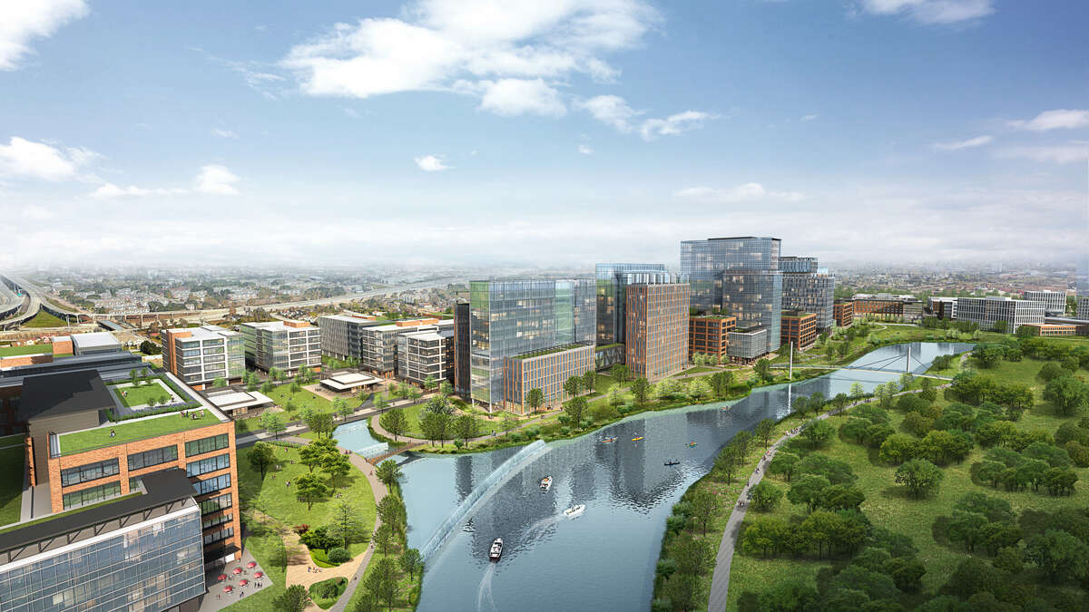 A rendering of what Midway's East River could look like.
