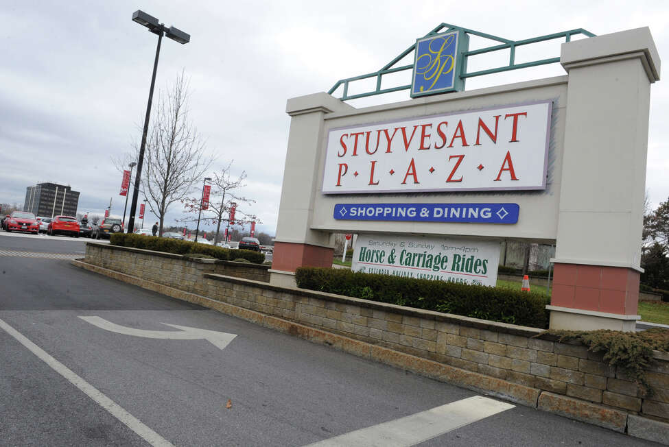 Sign at Fuller Rd. entrance to Stuyvesant Plaza on Wednesday Dec. 5, 2012 in Albany, N.Y. (Lori Van Buren / Times Union)