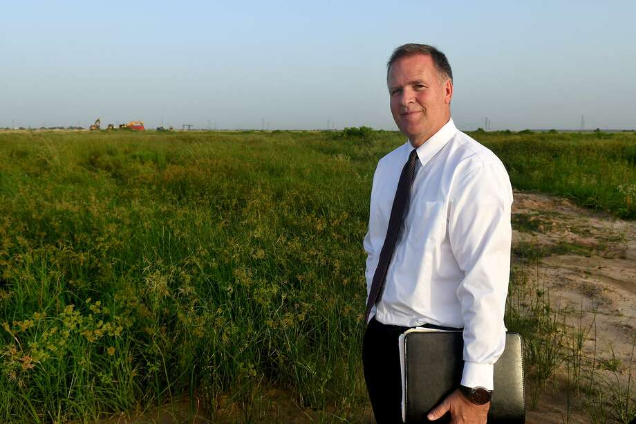 Scott Welch stands at the site of the new LDS chapel coming to Bridgeland next spring on July 15, 2018. (Jerry Baker/For the Chronicle) Photo: Jerry Baker, Freelance / For The Chronicle / Freelance