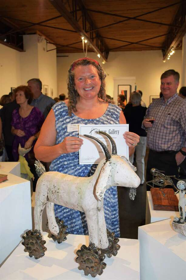 "Ceramics Artist and Heights resident Betsy Evans won first place at the Archway Gallery 10th Annual Juried Exhibition for her sculpture ""Trojan Goat."" The show had nearly 300 pieces submitted. Photo: Courtesy Photo"