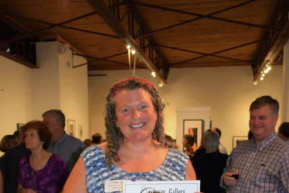 """Ceramics Artist and Heights resident Betsy Evans won first place at the Archway Gallery 10th Annual Juried Exhibition for her sculpture """"Trojan Goat."""" The show had nearly 300 pieces submitted."""
