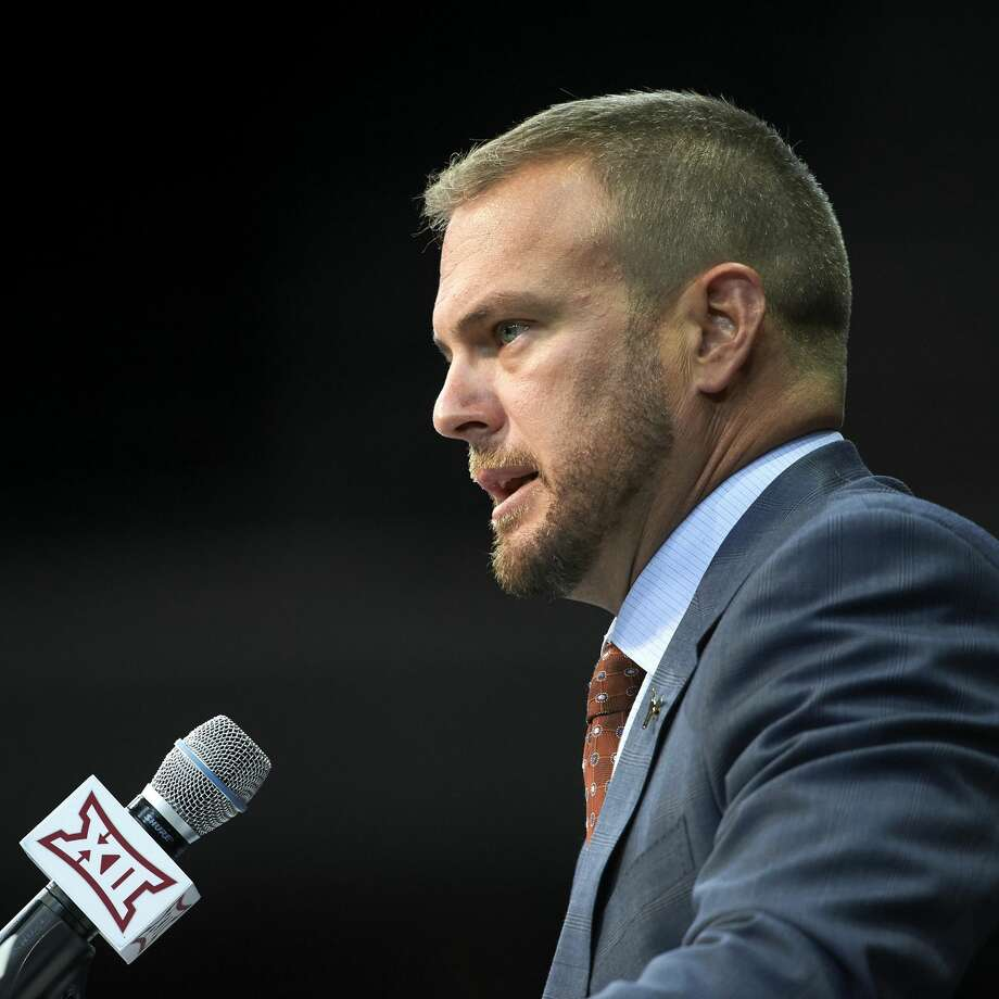 Texas football head coach Tom Herman speaks during NCAA college football Big 12 media days in Frisco, Texas, Tuesday, July 17, 2018. (AP Photo/Cooper Neill) Photo: Cooper Neill/Associated Press