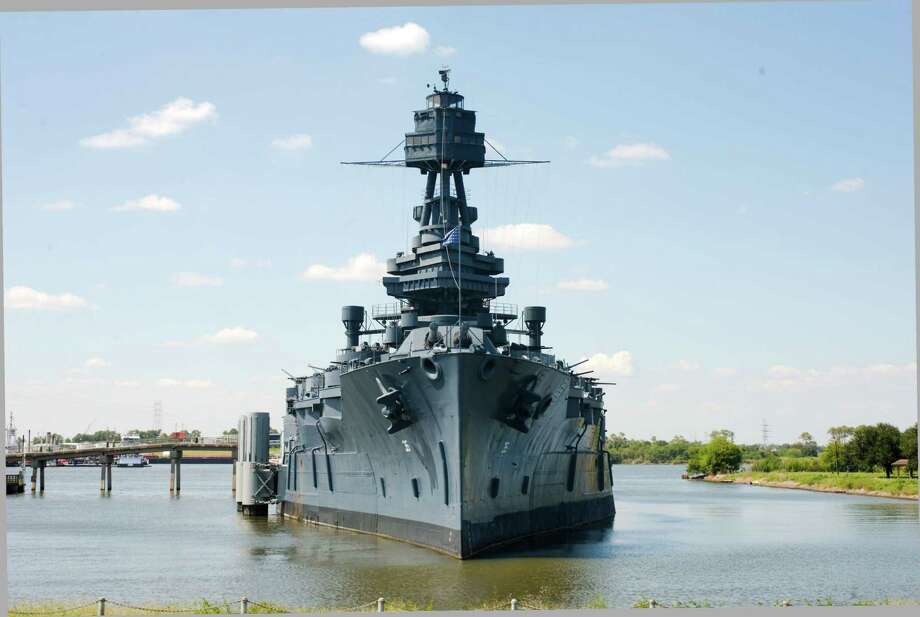 PHOTOS: Haunted Texas The Battleship Texas sits docked at the Battleship Texas State Historic Site in La Porte. A group of ghost hunters are inviting guests to come and spend the night on the ship in April to look for errant specters. >>>See more photos of places that are supposedly haunted in Texas... / Internal