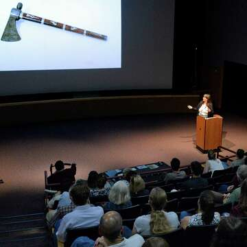 Curator discusses pipe tomahawk returned to State Museum
