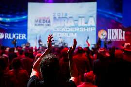 The audience cheers Joe Nichols performs during the pre-show for the NRA-ILA Leadership Forum at the Kay Bailey Hutchison Convention Center on Friday, May 4, 2018, in Dallas. (Smiley N. Pool/The Dallas Morning News)