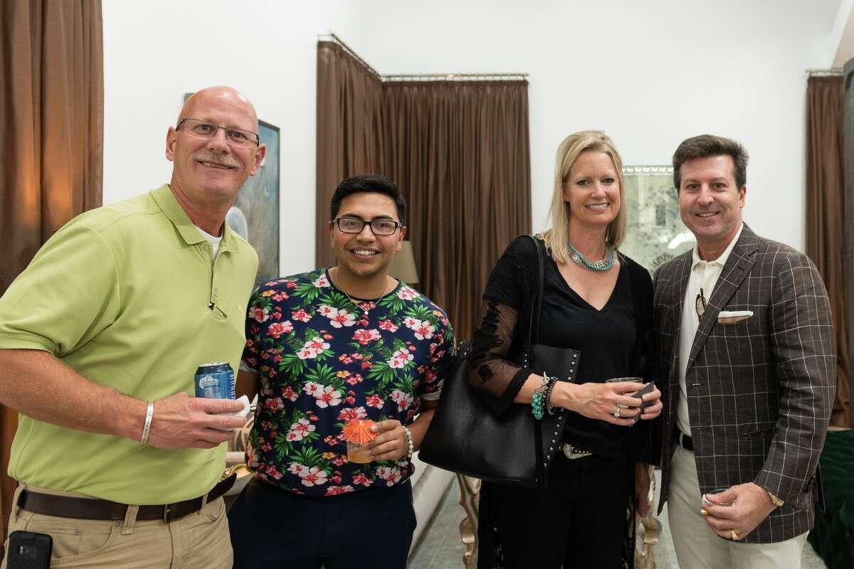 From left, Steve Kelley, Ray Valdez, Vicki Kelley and interior designer Denny Lyons