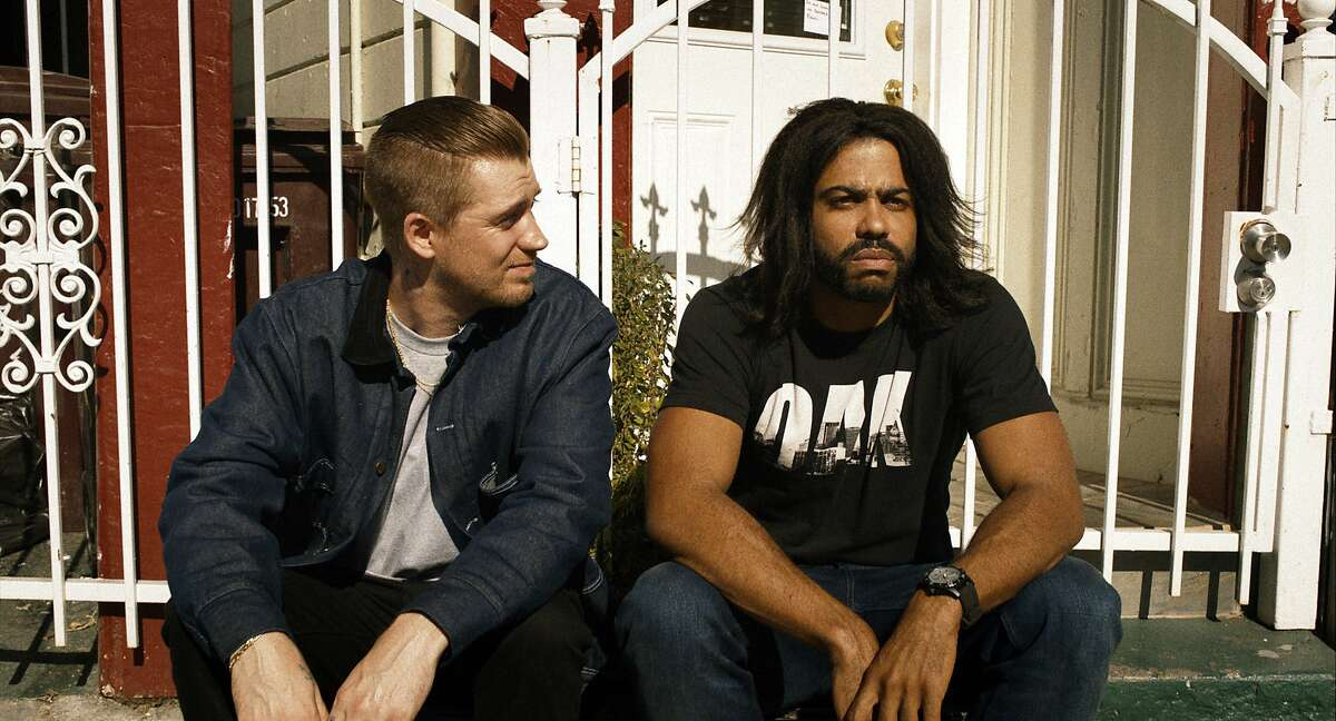 In this still from Lionsgate, Daveed Diggs, right, and Rafael Casal are shown in a scene from
