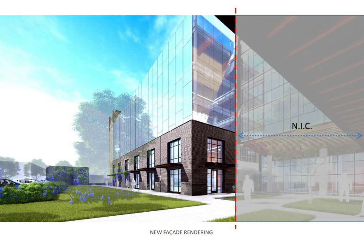 Renderings show how the San Antonio Light buildings will be reconstructed. Owner and developer GrayStreet Partners plan to begin reconstruction in early fall 2018 and to finish in Spring 2019. Plans for the print building have not yet been approved by the city.