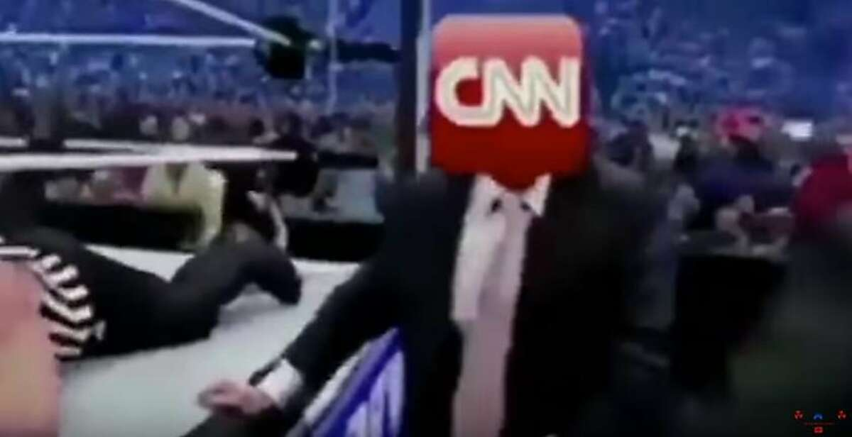 President Trump recently posted a short video to Twitter showing him in a wrestling match with someone whose head has been replaced with a CNN log0.