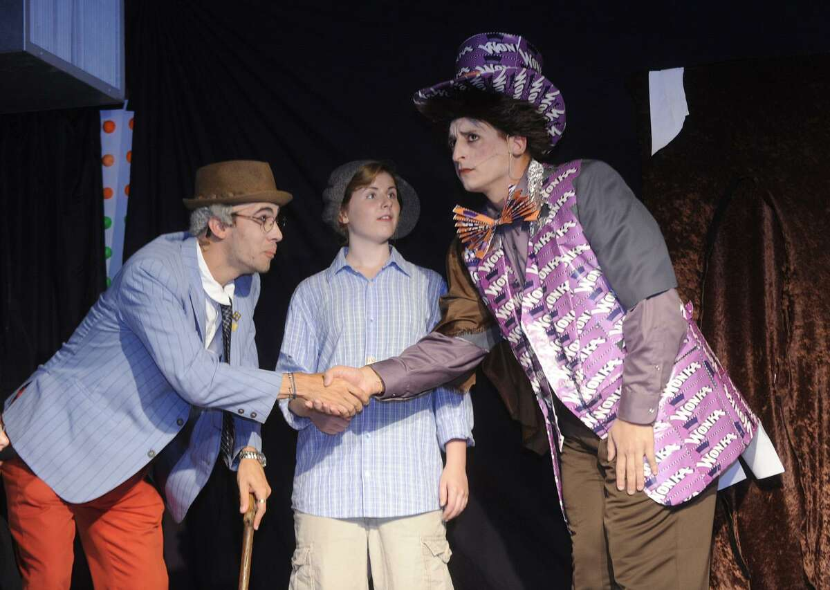 Kelsey Dietz, Brian Ciccone, and Tony Morello as Willy Wonka preform in The Off Beat Players 2010 production of Willy Wonka. The group will again return to Roald Dahl for their source material when they present their new production of James and the Giant Peach. The company, which is for teens and young adults with and without disabilities, will put on its show from Aug. 2 to Aug. 4.