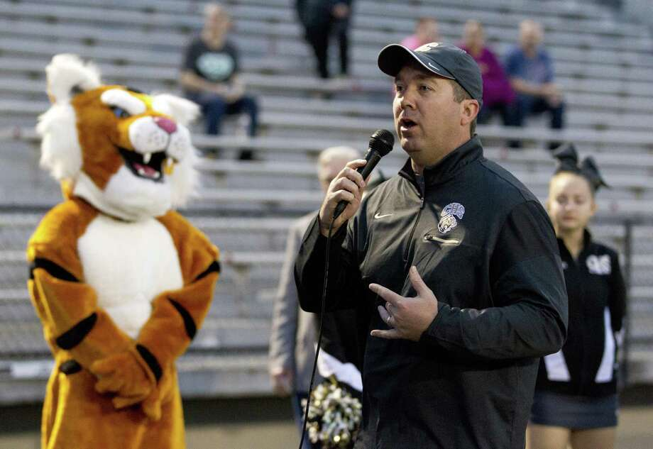 FILE PHOTO Conroe High School Principal Mark Weatherly announces the annual Tiger Spirit 5K and 1 mile walk raised more than $14,000 in support of student scholarships, Saturday, March, 24, 2018, in Conroe. Photo: Jason Fochtman, Staff Photographer / Houston Chronicle / © 2018 Houston Chronicle