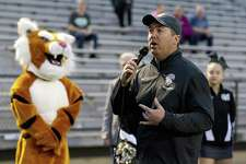 FILE PHOTO Conroe High School Principal Mark Weatherly announces the annual Tiger Spirit 5K and 1 mile walk raised more than $14,000 in support of student scholarships, Saturday, March, 24, 2018, in Conroe.
