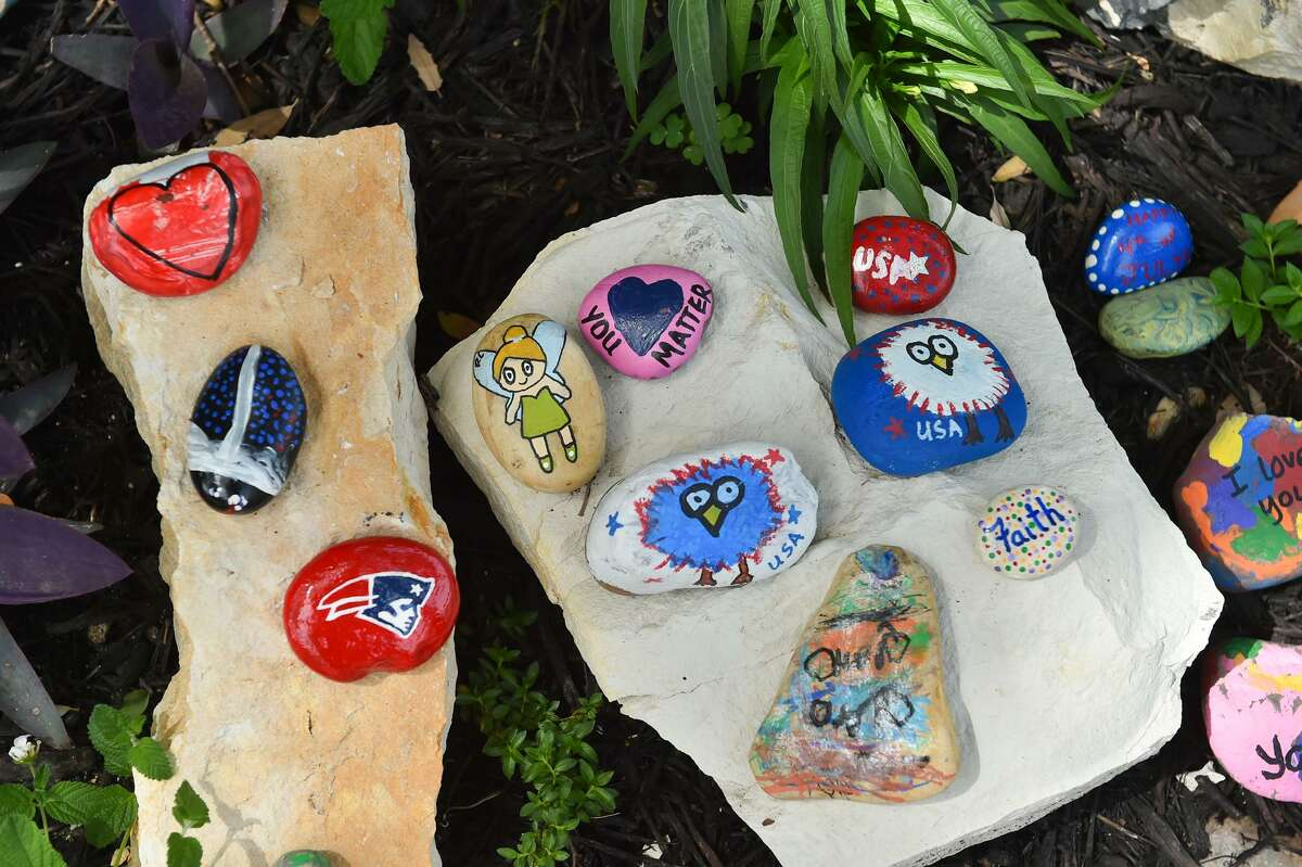 Members of San Antonio Rocks paint rocks and place them all around the city for the public to find, pass along and share on social media. Those rocks are easier to find at the group's dedicated rock gardens, such as the one group member Crissy Lobisser set up near her home.