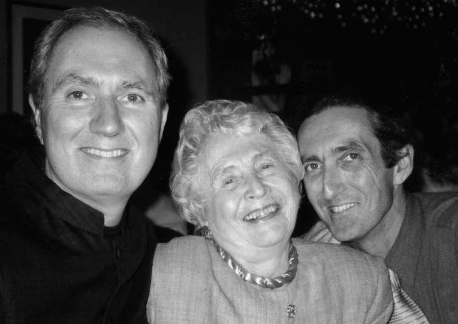 Nan Taylor Abell with her sons Curtice, left, and Adams Taylor at a family event in Portland, Ore., in 2000. Photo: Contributed Photo / Greenwich Time Contributed