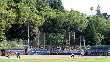 Cal's Levine-Fricke Field, at the base of Strawberry Canyon, will get a full makeover as part of the university's $30 million investment in women's sports. Photo: Matier & Ross / Courtesy Cal Athletics