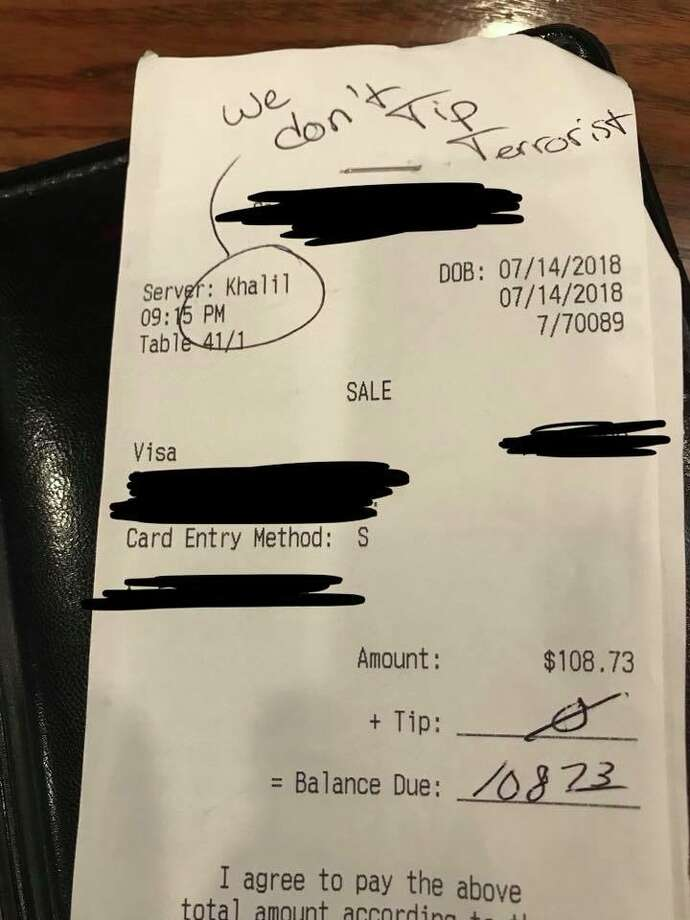 An Odessa waiter's viral Facebook post about a patron leaving a racist message instead of a tip landed on Texas Monthly's 2019 Bum Steer Awards. Photo: Khalil Cavil