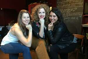 Brooke Heinichen (from left), Shelbi Evans and Nicole Calasich co-produce and perform in �The Resistance is Fertile.""
