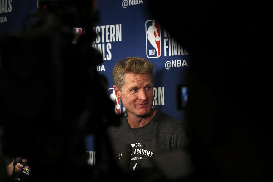 Head coach Steve Kerr has led the Warriors to three NBA titles, four NBA Finals and 265 regular-season wins in four seasons. Photo: Carlos Avila Gonzalez / The Chronicle