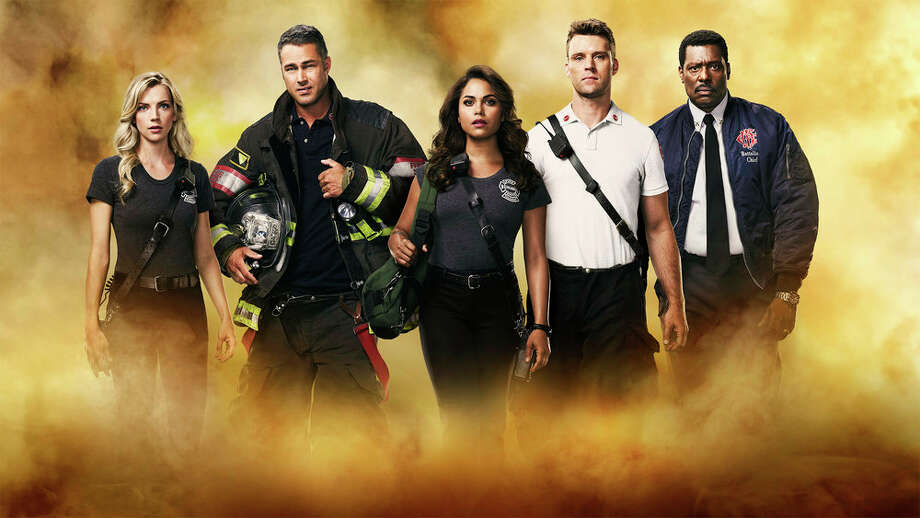 Chicago Fire's eighth season finale will air on NBC on April 15, weeks earlier than originally planned due to COVID-19-related production shutdowns. Watch here. Photo: NBC / 2017 NBCUniversal Media, LLC.