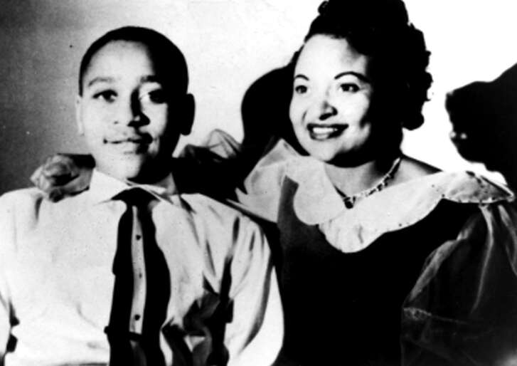An undated family photograph taken in Chicago shows Mamie Till Mobley, right, and her son Emmett Till, who at age 14 was lynched in Mississippi in 1955. Mobley, 81, died in 2003.
