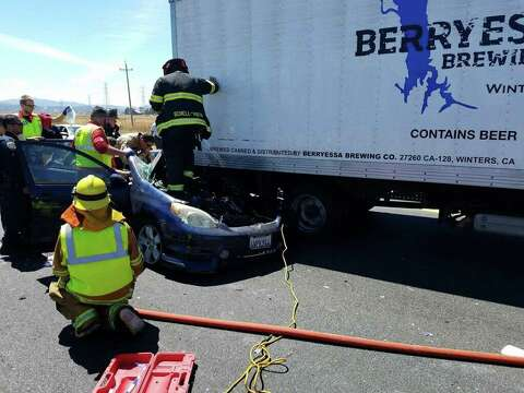 Injuries reported in box truck, sedan collision on Hwy 37 - SFGate