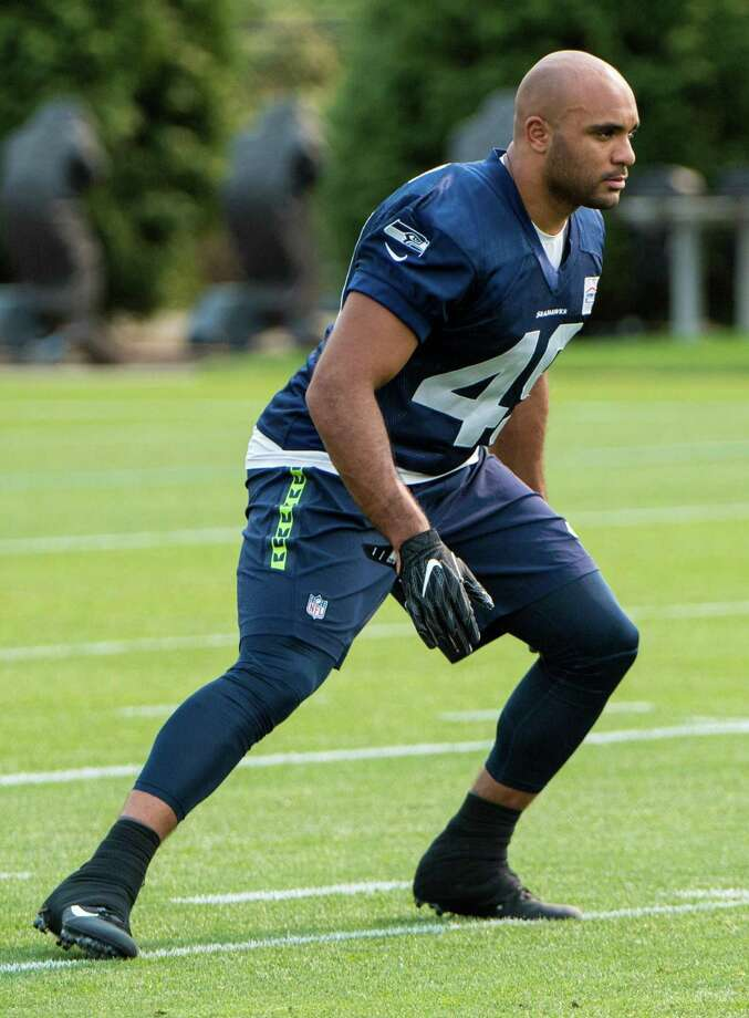 Austin Calitro of Danbury in action during minicamp with the Seattle Seahawks in June of 2018. Photo: Photo Courtesy Of The Seattle Seahawks / Photo Courtesy Of The Seattle Seahawks