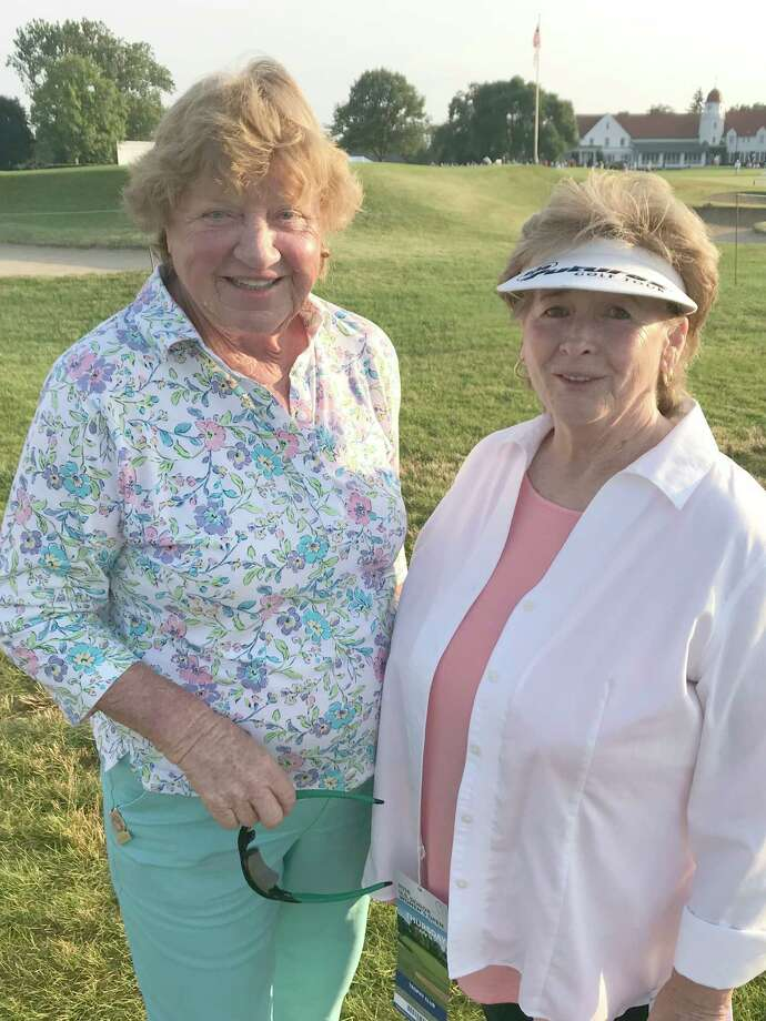 Eloise Trainor with JoAnne Carner at the U.S. Senior Women's Open Championship at Chicago Golf Club, in Wheaton, Ill., July 12-15, 2018. (Provided) Photo: Courtesy Kay McMahon