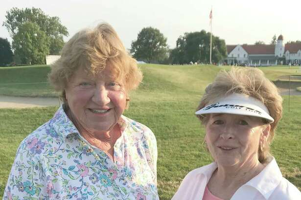 Eloise Trainor with JoAnne Carner at the U.S. Senior Women's Open Championship at Chicago Golf Club, in Wheaton, Ill., July 12-15, 2018. (Provided)