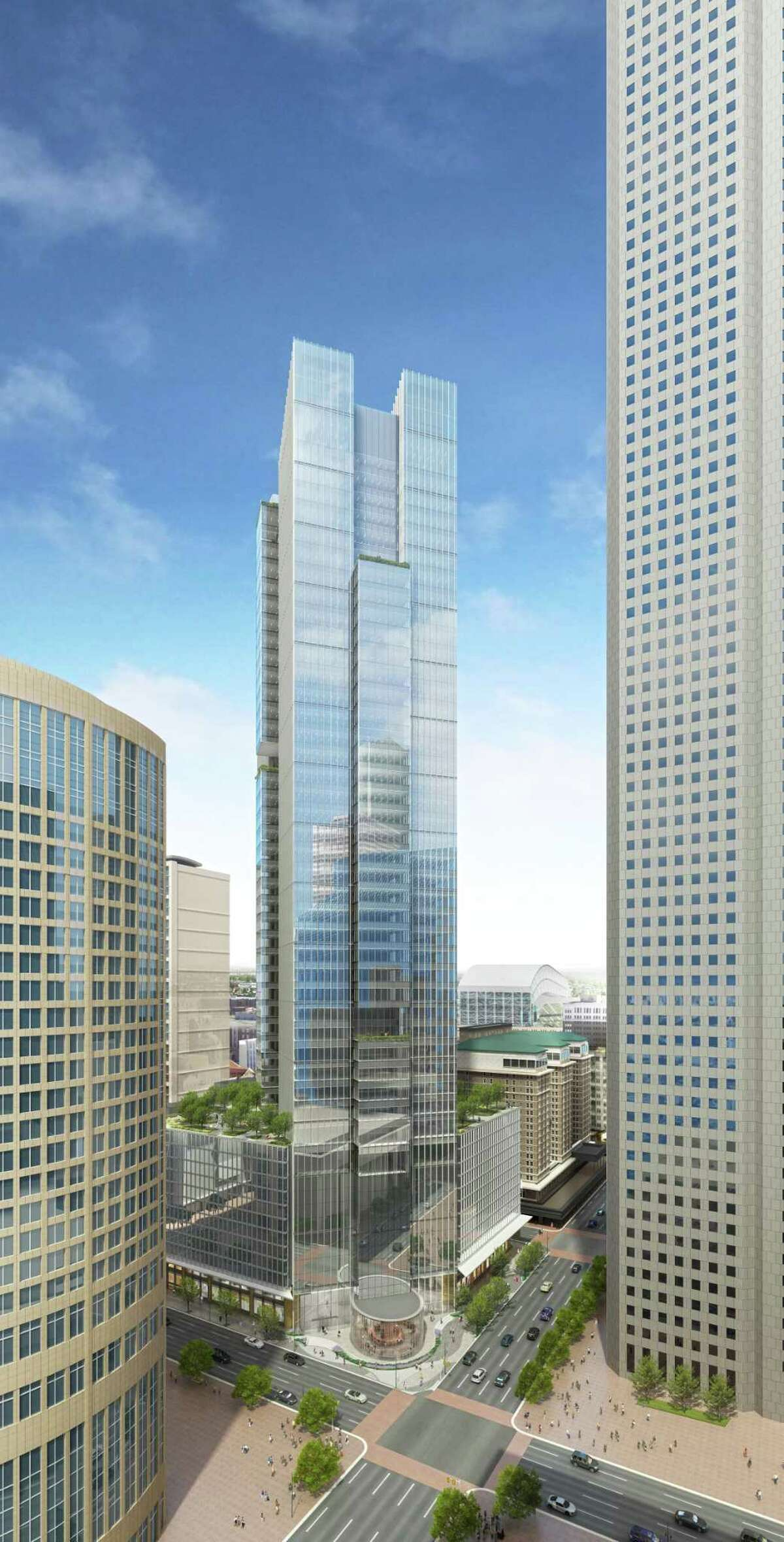 """Hines is breaking ground on a 47-story office tower downtown it says will be a ?""""next-generation?"""" building, drawing from research and best practices from its other properties around the world. The building will provide multiple gathering spaces, co-working options and a unique design where it will be diagonally positioned on a square downtown block and offer glass-enclosed ?""""sky atriums?"""" that tenants can customize."""