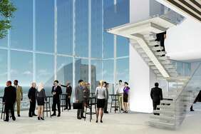 "Hines is breaking ground on a 47-story office tower downtown it says will be a ""next-generation"" building, drawing from research and best practices from its other properties around the world. The building will provide multiple gathering spaces, co-working options and a unique design where it will be diagonally positioned on a square downtown block and offer glass-enclosed ""sky atriums"" that tenants can customize."