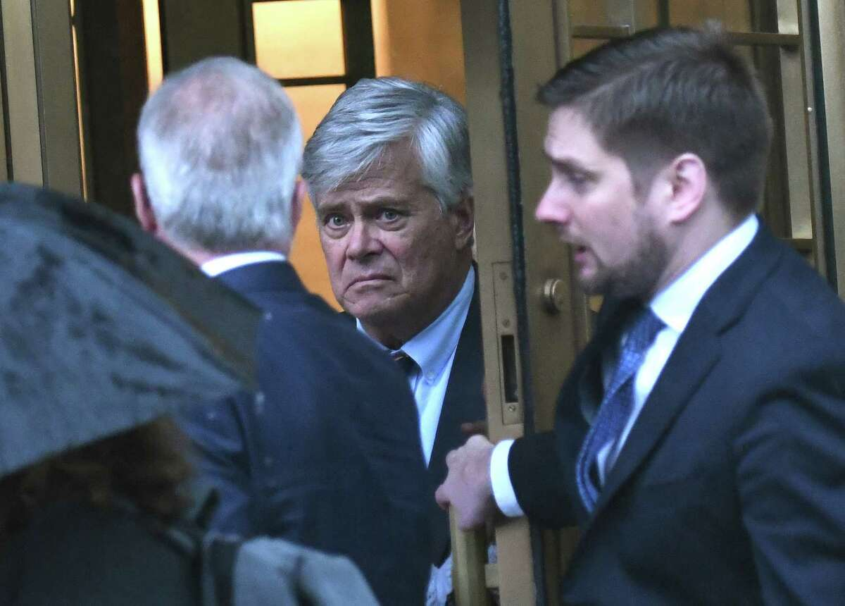 Former State Senate Majority Leader Dean Skelos, exits federal court in New York, U.S., on Tuesday, July 17, 2018. Skelos was found guilty of bribery, extortion and conspiracy, marking the fourth time in five months that a major federal case targeting corruption in Albany has ended in a conviction. Photographer: Louis Lanzano/Bloomberg
