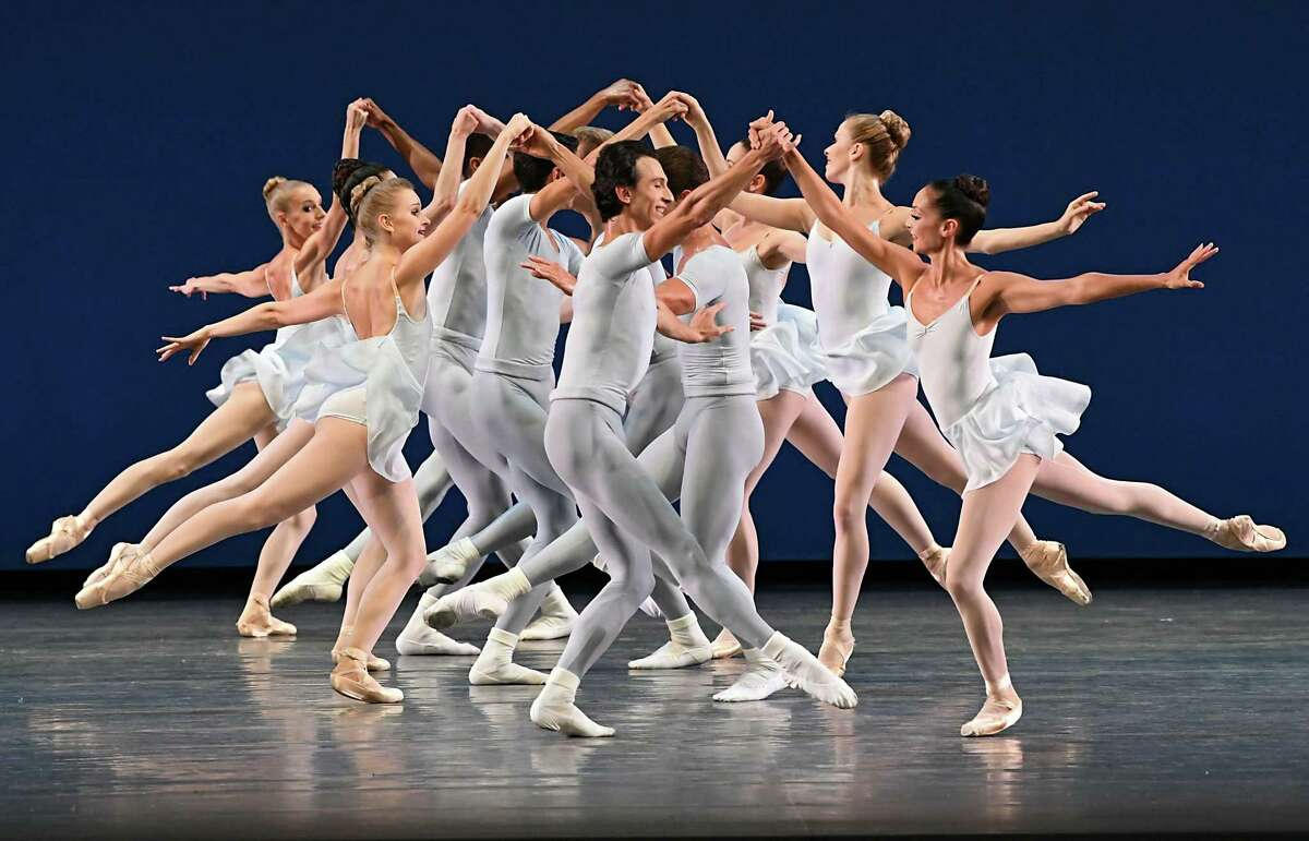 Square Dance (Vivaldi, Corelli/Balanchine) is performed during opening night of the New York City Ballet at Saratoga Performing Arts Center on Tuesday, July 17, 2018 in Saratoga Springs, N.Y. (Lori Van Buren/Times Union)