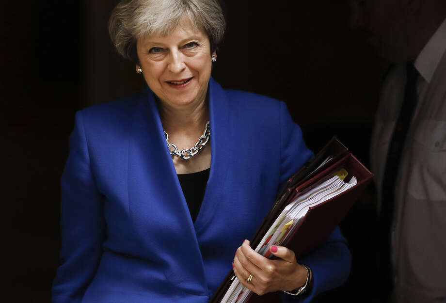 British Prime Minister Theresa May departs No. 10 Downing Street in London on June 20, 2018. Photo: Bloomberg Photo By Luke MacGregor. / © 2018 Bloomberg Finance LP