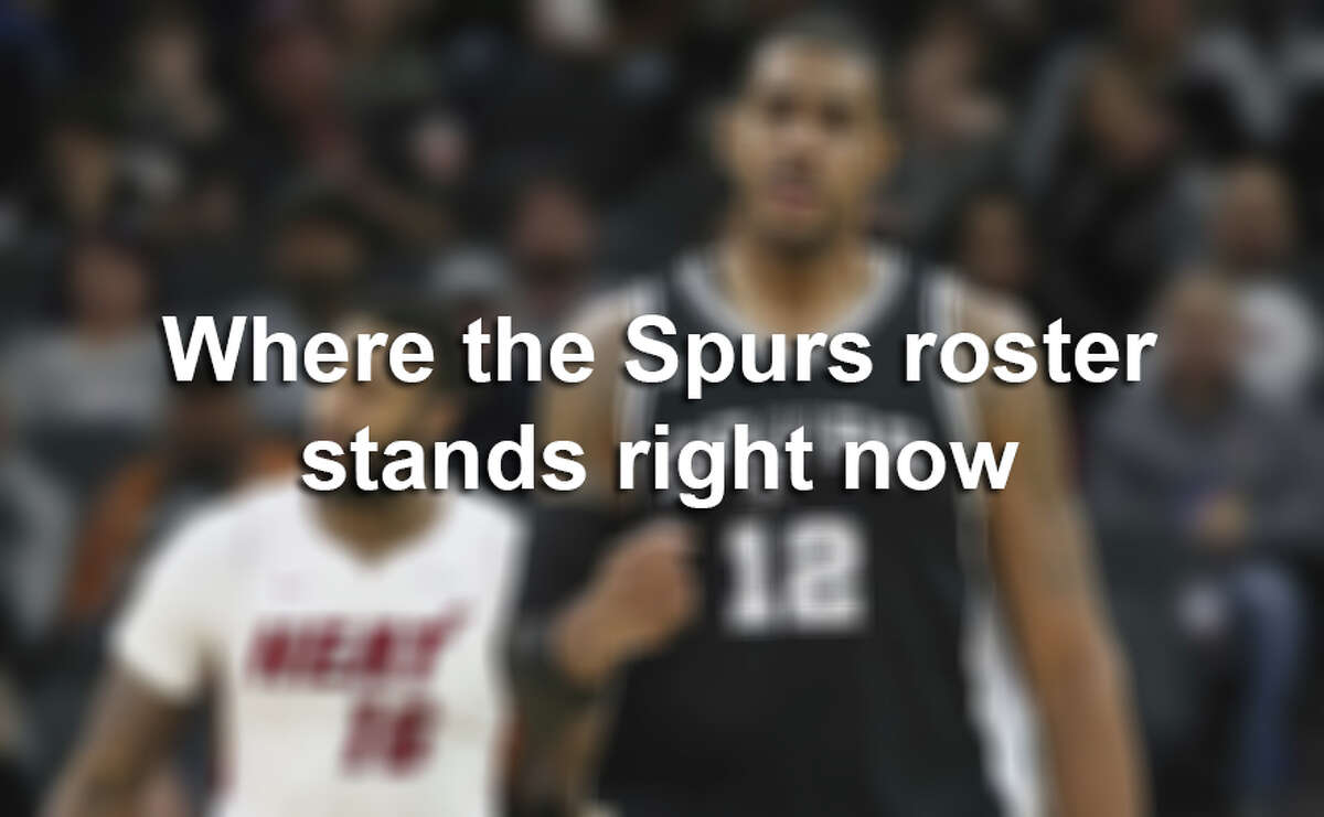 This is what the roster looks like so far, as several longtime Spurs have moved on and the team has re-signed others.